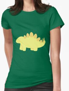 little yellow stegosaurus! :) Womens Fitted T-Shirt