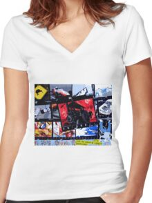 Automania Women's Fitted V-Neck T-Shirt