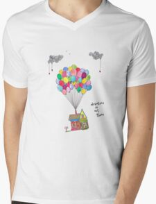 Up, Adventure is out there, travel Mens V-Neck T-Shirt