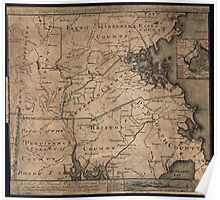 American Revolutionary War Era Maps 1750-1786 975 To the Hone Jno Hancock Esqre president of ye Continental Congress this map of the seat of civil war in Poster