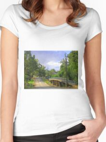 Country Road in Auburn Women's Fitted Scoop T-Shirt
