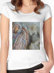 Knitting everywhere Women's Fitted Scoop T-Shirt
