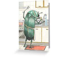scarab Greeting Card