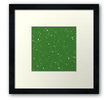 Starscape Trading Card Pattern Green Framed Print