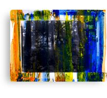 Colored Forest - Original Wall Modern Abstract Art Painting Canvas Print