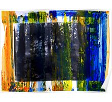Colored Forest - Original Wall Modern Abstract Art Painting Poster