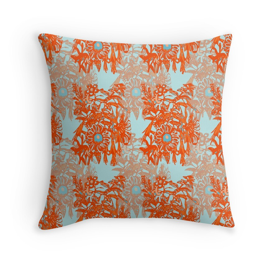 Decorative Pillows Orange And Blue : Orange And Blue Decorative Pillows