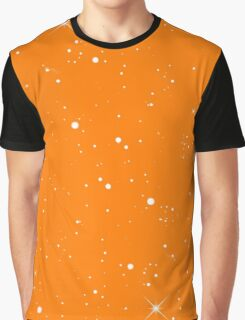 Starscape Trading Card Pattern Orange Graphic T-Shirt