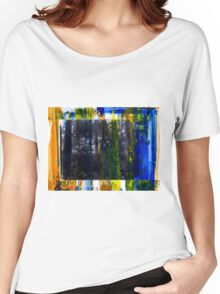 Colored Forest - Original Wall Modern Abstract Art Painting Women's Relaxed Fit T-Shirt