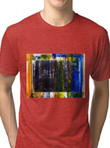 Colored Forest - Original Wall Modern Abstract Art Painting Tri-blend T-Shirt