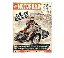 vintage sidecar Photographic Print