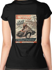 vintage sidecar Women's Fitted Scoop T-Shirt