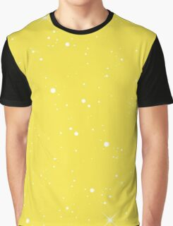 Starscape Trading Card Pattern Yellow Graphic T-Shirt
