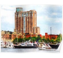 Boats at Inner Harbor Baltimore MD Poster
