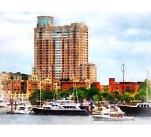 Boats at Inner Harbor Baltimore MD Photographic Print