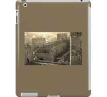 CONWY CASTLE FORTRESS NORTH WALES IN SEPIA iPad Case/Skin