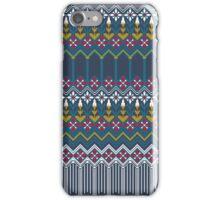Russian carpet grey iPhone Case/Skin
