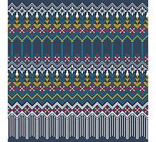 Russian carpet grey Photographic Print