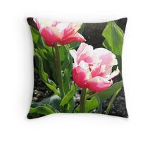 Summer tulips Throw Pillow