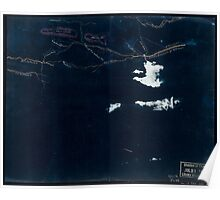 085  Sketch of roads and streams in Highland County Va and Pendleton County W Va Inverted Poster