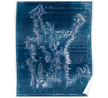 American Revolutionary War Era Maps 1750-1786 079 A map of the bay of Narraganset with the islands therein and part of the country adjacent Inverted Poster