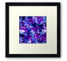 Modern blue purple watercolor brushstrokes Framed Print