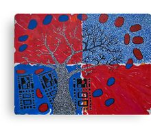 Computer Chips with Boab Tree, floating fruit Canvas Print