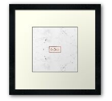 Modern french le chic typography rose gold marble Framed Print