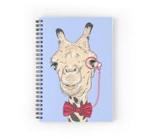 Giraffe hipster in eyeglasses and bowtie Spiral Notebook