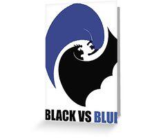 Black vs Blue 2 Greeting Card