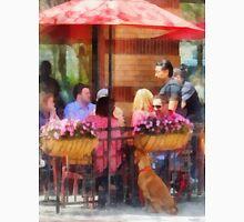 Hoboken NJ - Dog Waiting By Cafe Unisex T-Shirt