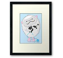 Snow yeti's love kitties too Framed Print