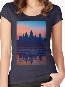 Cambodia. Angkor Wat. Sunrise. Women's Fitted Scoop T-Shirt