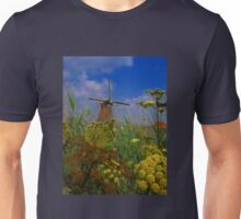 Windmill. Kinderdijk, Netherlands Unisex T-Shirt