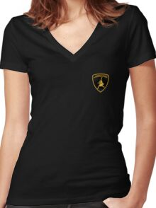 Labradoggi (small logo) Women's Fitted V-Neck T-Shirt