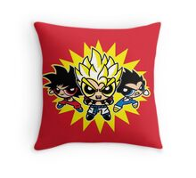 Dragonball z powerpuff style Throw Pillow