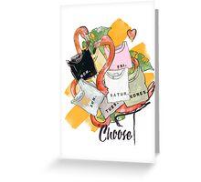 Choose Your Flamingo Greeting Card