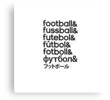Football languages Canvas Print