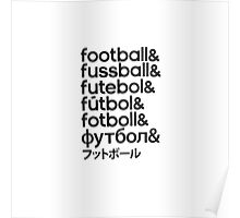 Football languages Poster