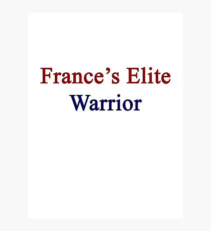 France's Elite Warrior  Photographic Print