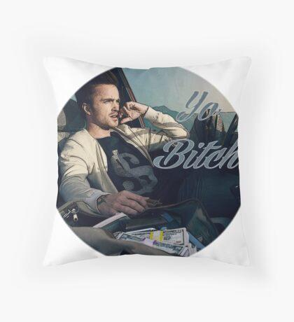 Yo Bitch - Jesse Pinkman Throw Pillow