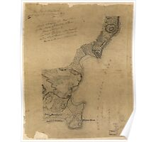 American Revolutionary War Era Maps 1750-1786 611 Map showing the west shore of the North or Hudson River Poster