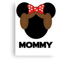 Mommy Leia Minnie Canvas Print