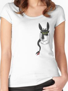 How To Train Tour Dragon, Toothless pocket Women's Fitted Scoop T-Shirt