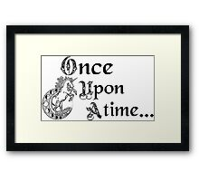 Once upon a time- logo Framed Print