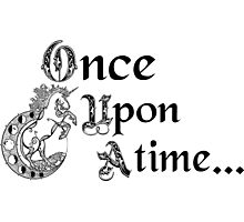 Once upon a time- logo Photographic Print
