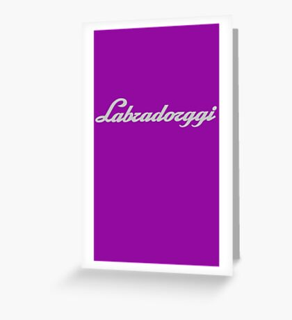 Lab speed (silver text) Greeting Card