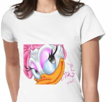 ~Daisy Duck ~ Womens Fitted T-Shirt