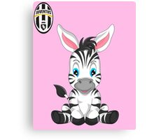 Juventus Fc Baby girl supporter Canvas Print