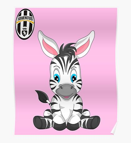 Juventus Fc Baby girl supporter Poster